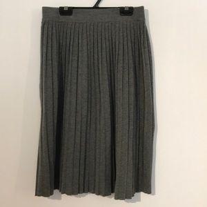 Zara knit pleated skirt